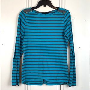 The Limited Blue & Brown Long Sleeve Shirt Size S